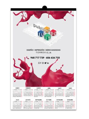 Calendario de pared A3 lamina